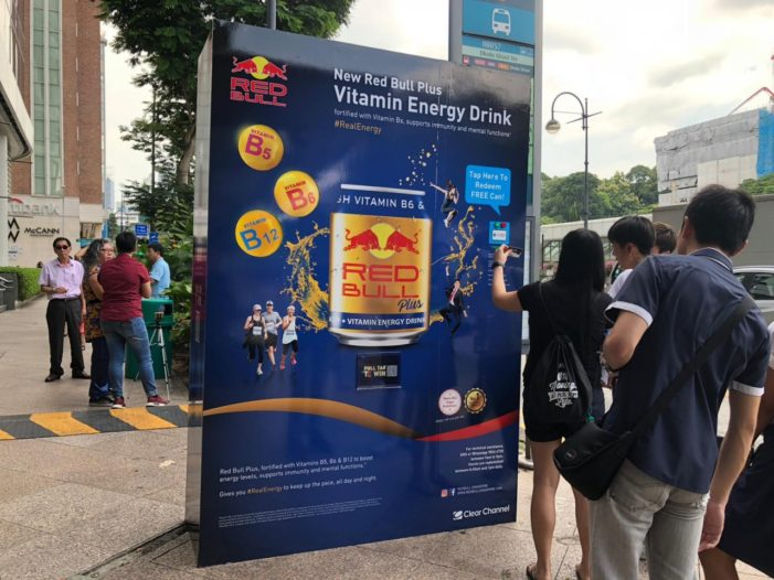 Red Bull Transforms Bus Shelter in Singapore into a Vending Machine