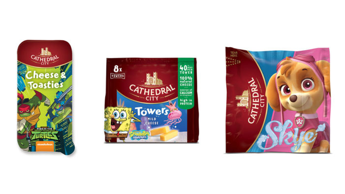 Dairy Crest Revamps Cathedral City Kids Snacking Range with Nickelodeon