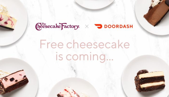 Cheesecake Factory Offering Free Slices on Delivery for 40th Anniversary