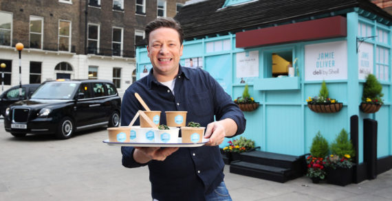 Jamie Oliver Teams with Shell to Open London's Smallest Café to Launch New On-the-Go Food Range