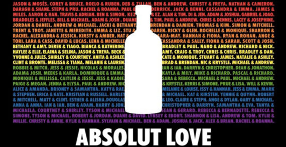 Absolut Celebrates Australian Marriage Equality in 'Absolute Love' Campaign by Cummins&Partners