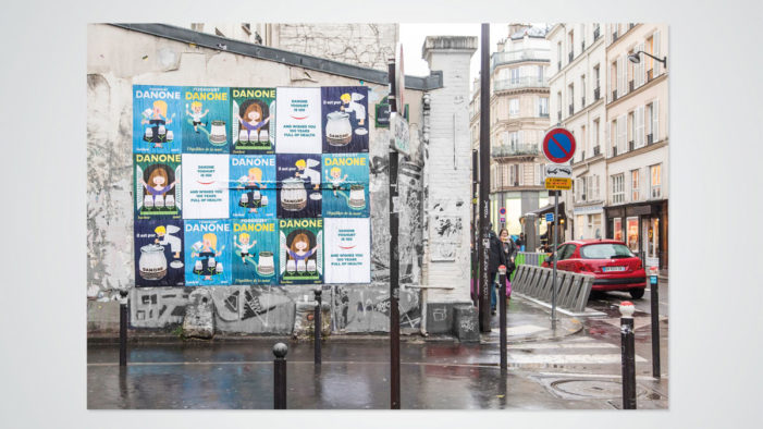 Danone Decorates the Streets of Paris Posters to Celebrate a Century of Yoghurt