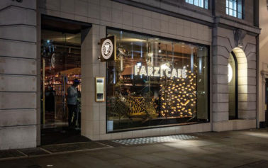 Experimental Indian Dining Concept Farzi Café Arrives in London with DesignLSM Branding