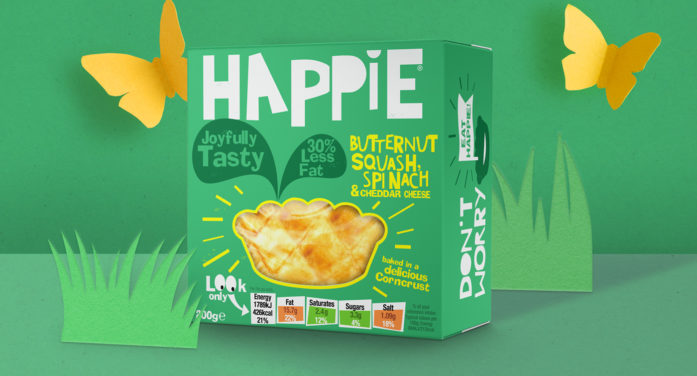 Tidy's Colourful Branding Help Happie Redefine the Humble Pie