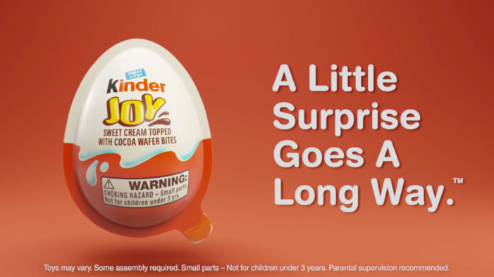 Kinder Joy Launches New Ad During the Oscars Celebrating its Tagline: A Little Surprise Goes A Long Way