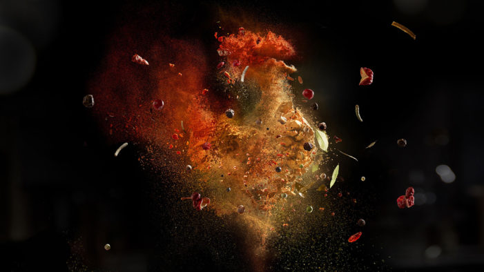 Chicken and Fish Emerge from a Cloud of Spices in These Print Ads by MullenLowe Romania