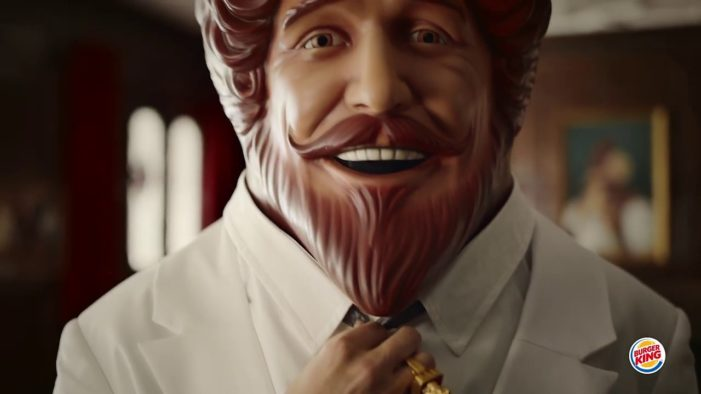 The King Dresses Like 'The Colonel' To Promote Burger King's Grilled Chicken