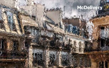 TBWA\Paris Peers Through Rain-Soaked Windows in New McDonald's Print Ads