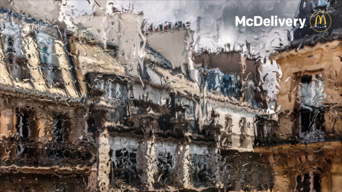 TBWA\Paris Peers Through Rain-Soaked Windows in New McDonald's Print Ads