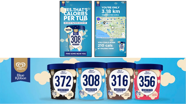 Blue Ribbon Helps Ice Cream Lovers Justify the Treat with Geo-Located Ads