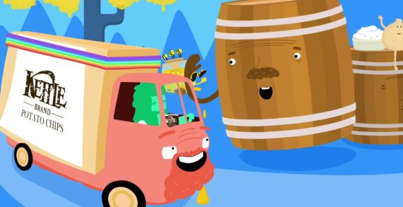 Kettle Brand Journeys Through a Flavour Frontier in Colourful Animated Ads