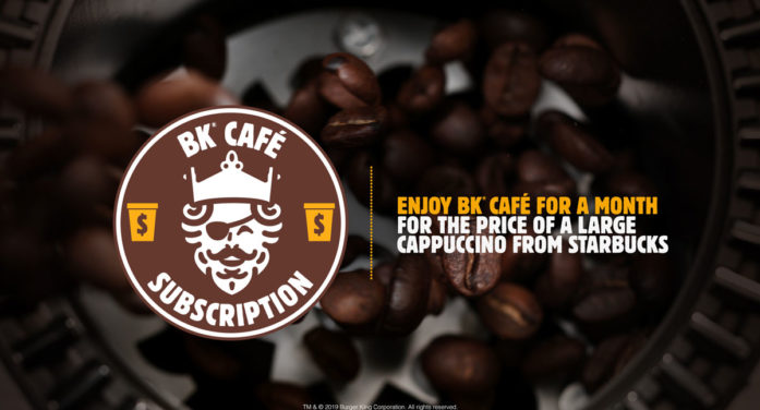 Burger King Takes Aim at Starbucks with Launch of BK Café Subscription for Only $5 a Month