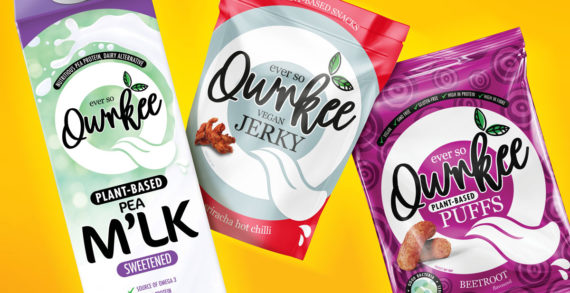 Slice Design Brands New Plant-Based Brand Qwrkee to Shake up the Vegan Snacking Market