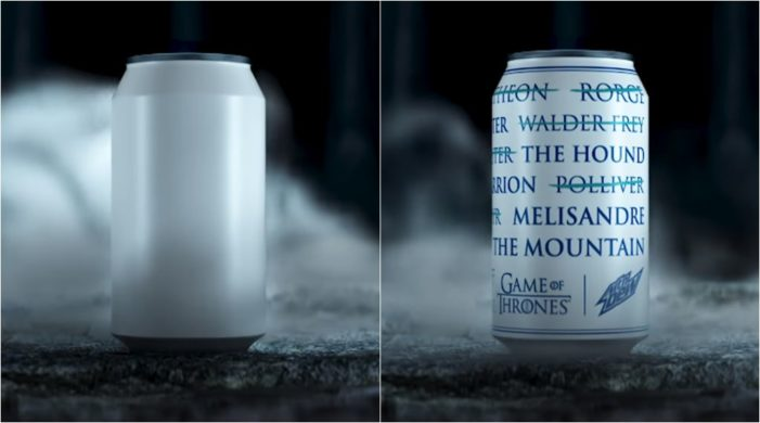 PepsiCo Extends Game of Thrones Partnership with Mountain Dew
