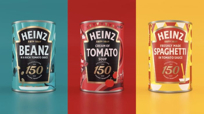 Jones Knowles Ritchie Redesigns Three Iconic Tins for Heinz to Celebrate their 150th Anniversary