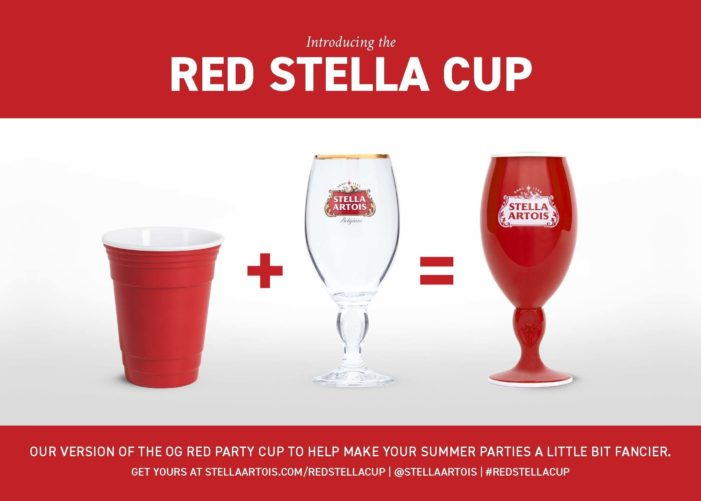 "Stella Artois is Making the Red Party Cup a Little More Stylish this Summer with the Release of its ""Red Stella Cup"""