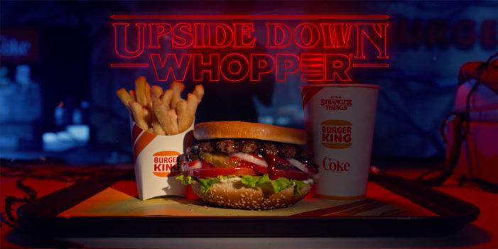 Burger King Prepares for Stranger Things with Upside Down Whopper