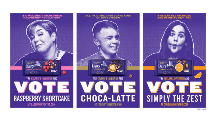 Cadbury Challenges the UK to Vote Between Three New Limited-Edition Cadbury Dairy Milk Bars