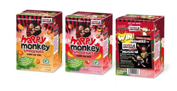 Beano Studios Launches UK-wide Onpack Partnership with Happy Monkey Drinks