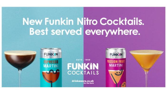 Funkin Cocktails Launches their Biggest Campaign to Date for their New Range of Nitro Cocktails in a Can