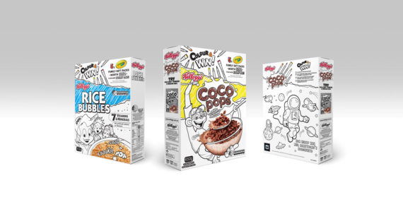 Kellogg's Goes Black and White in New 'Colour & Win' Promotion with Crayola