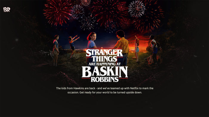 Baskin-Robbins and Netflix Promote New Season of Stranger Things with a Campaign by Type + Pixel