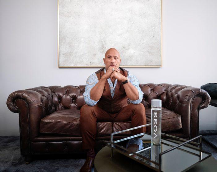 Dwayne Johnson And VOSS Water Announce Strategic Partnership