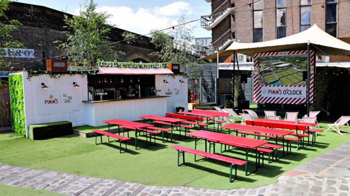 PIMM's Serves up Summer of Sport at The Pimm's Garden in London's Flat Iron Square