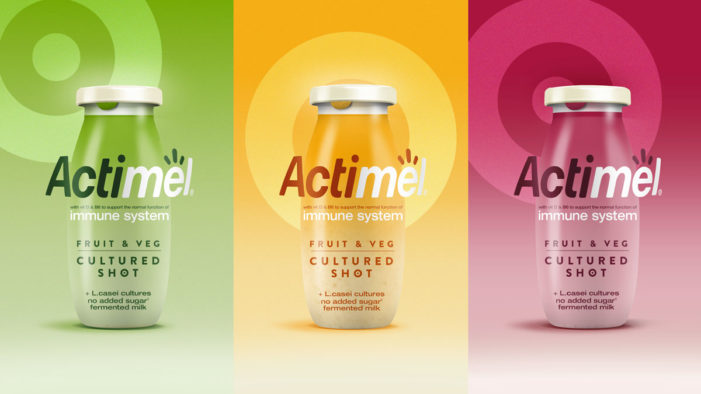 Danone Teams with Dragon Rouge for the Design and Launch of Actimel Fruit & Veg Cultured Shot