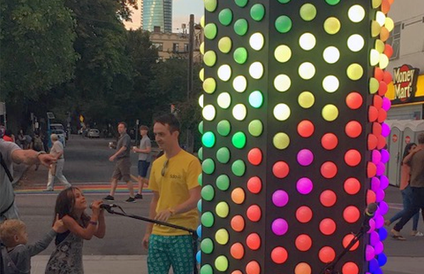 Skittles Celebrates Vancouver Pride with a Towering Interactive Light Installation