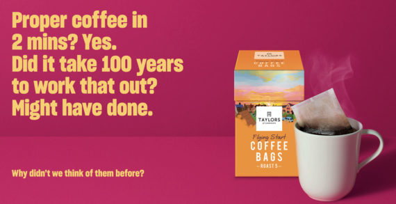 Taylors Asks 'Why Didn't We Think of Them Before?' in New Coffee Bags Campaign by Lucky Generals