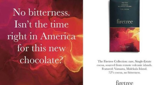 Firetree chocolate sweetens US launch with tongue-in-cheek 'no bitterness' ad campaign for first issue of Spectator USA magazine