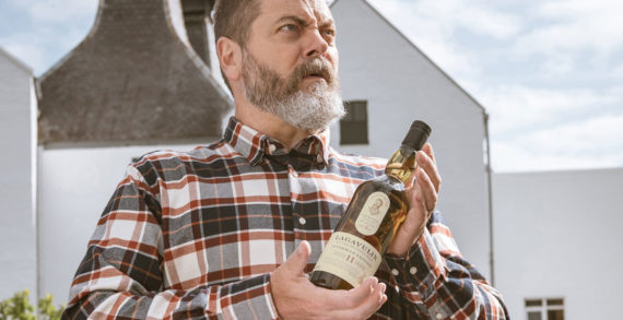 Nick Offerman (with Lagavulin) discovers how to make scotch whisky and releases his gift to the world