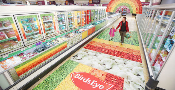 Birds Eye and Sainsbury's revamp frozen aisle to get people to shop in full colour