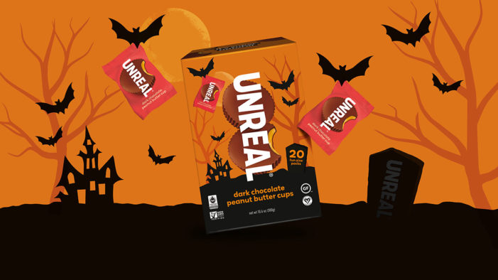 Unreal's Halloween candy launches with branding from Family (and friends)