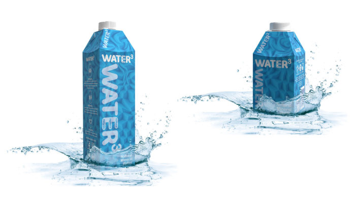 Start-up Brand DRINKS3 Launches New Responsible WATER3 in SIG'S Combidome Carton Bottle