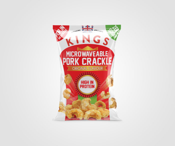 UK's first Microwaveable Pork Crackle by Kings Elite Snacks launches into Sainsburys