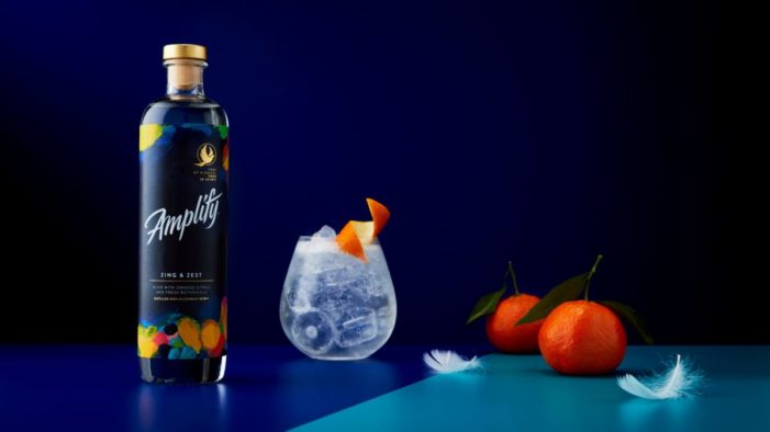 "Elmwood Leeds creates Amplify, a bold, playful new zero-alcohol drinks brand that is ""Free of alcohol, free in spirit."""
