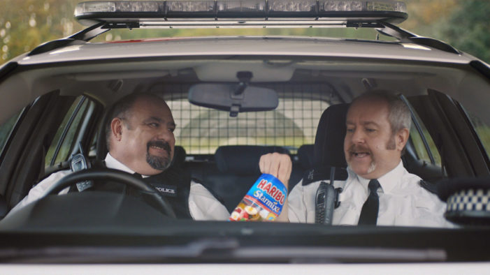 Traffic police liven up a dull shift with a bag of Starmix in the latest Haribo film by Quiet Storm