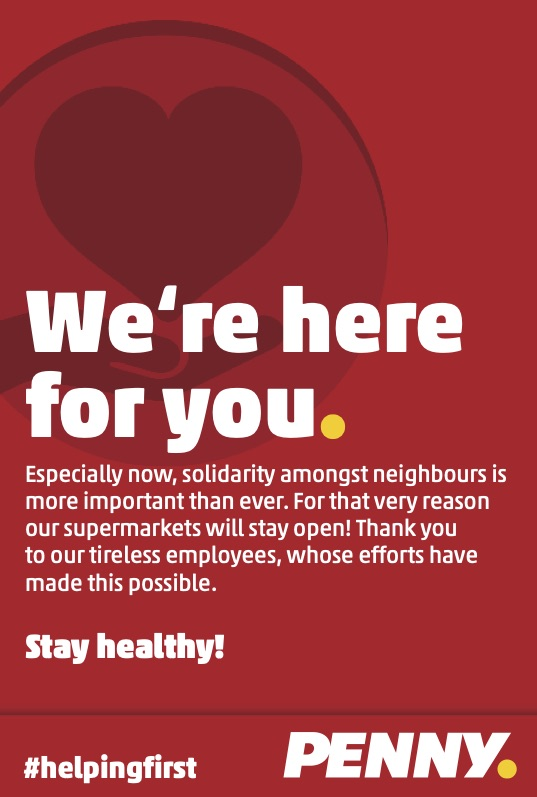 "PENNY Supermarkets Say A Public Thank you to the ""Heroes of the Neighbourhood"""