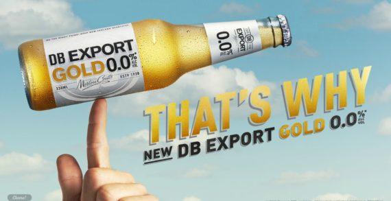 DB Export GOLD 0.0% Campaign Lands Classic Satirical Kiwi Humour