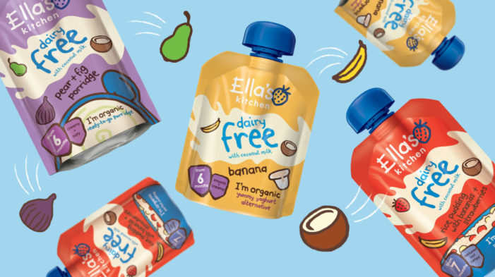 Ella's Kitchen moves into dairy free category with packaging design by Brandon