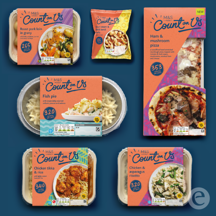 Elmwood's Emotional Re-Brand Reinvigorates M&S' Count On Us Low Calorie Range