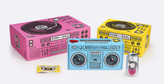 B&B studio design delivery boxes for Dalston's Soda