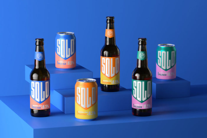 Bright, bold and unapologetically alcohol free, Thirst brands West Berkshire Brewery's new range 'Solo'