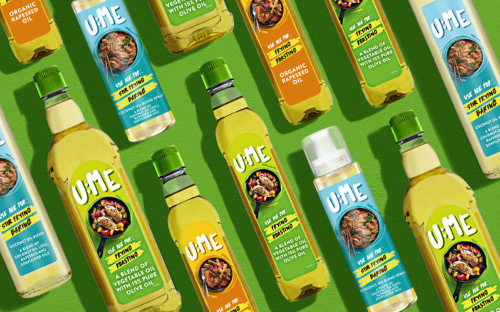 Speciality cooking oil range U:ME launches with brand strategy, naming and design by Brandon