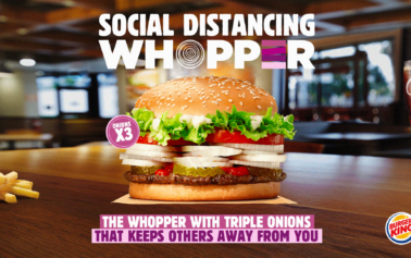 """Burger King and Wunderman Thompson launch """"The Social Distancing Whopper"""""""