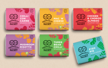 """F&f create brand identity for Community Kitchen Project, where sharing goodness is front and centre"""