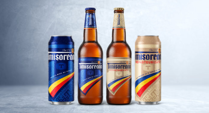 Nude Brand Creation develops new visual identity and packaging for leading Romanian beer brand Timisoreana.