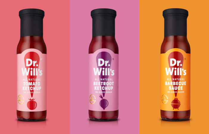 B&B studio delivers new attention-grabbing packaging and identity for natural condiments brand, Dr Will's